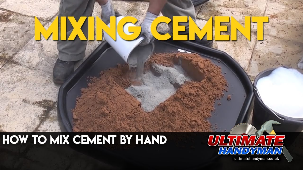 How to mix cement by hand - YouTube