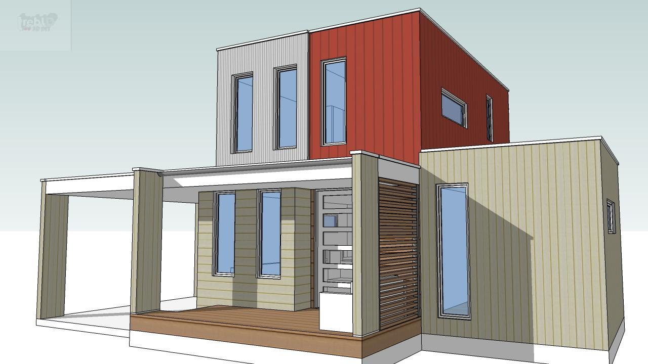 Design your own Container Home or Tiny House with SketchUp - YouTube