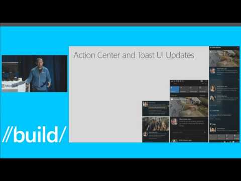 Build 2016 Notification Futures Action Center in the Cloud and the Windows Notification Platform