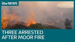 Three arrested over Ilkley Moor fire | ITV News