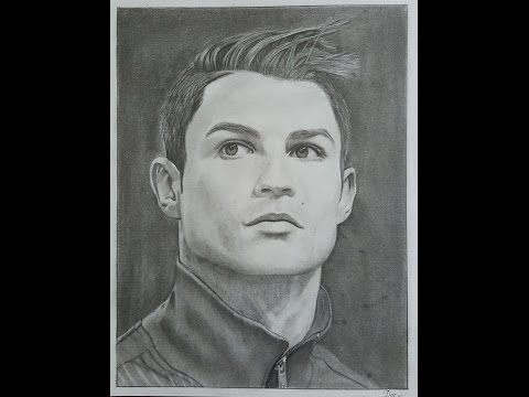 Realisctic Pencil Drawing Of Cristiano Ronaldo Speed Drawing Time Lapse Celebrity Drawing Youtube