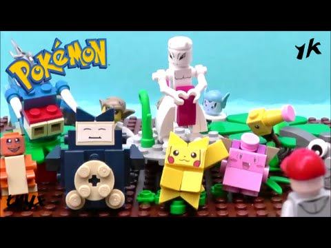 Lego Pokemon Mewtwo Brick Figure Youtube