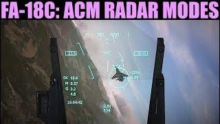 FA-18C Hornet: ACM Radar Modes Tutorial | DCS WORLD