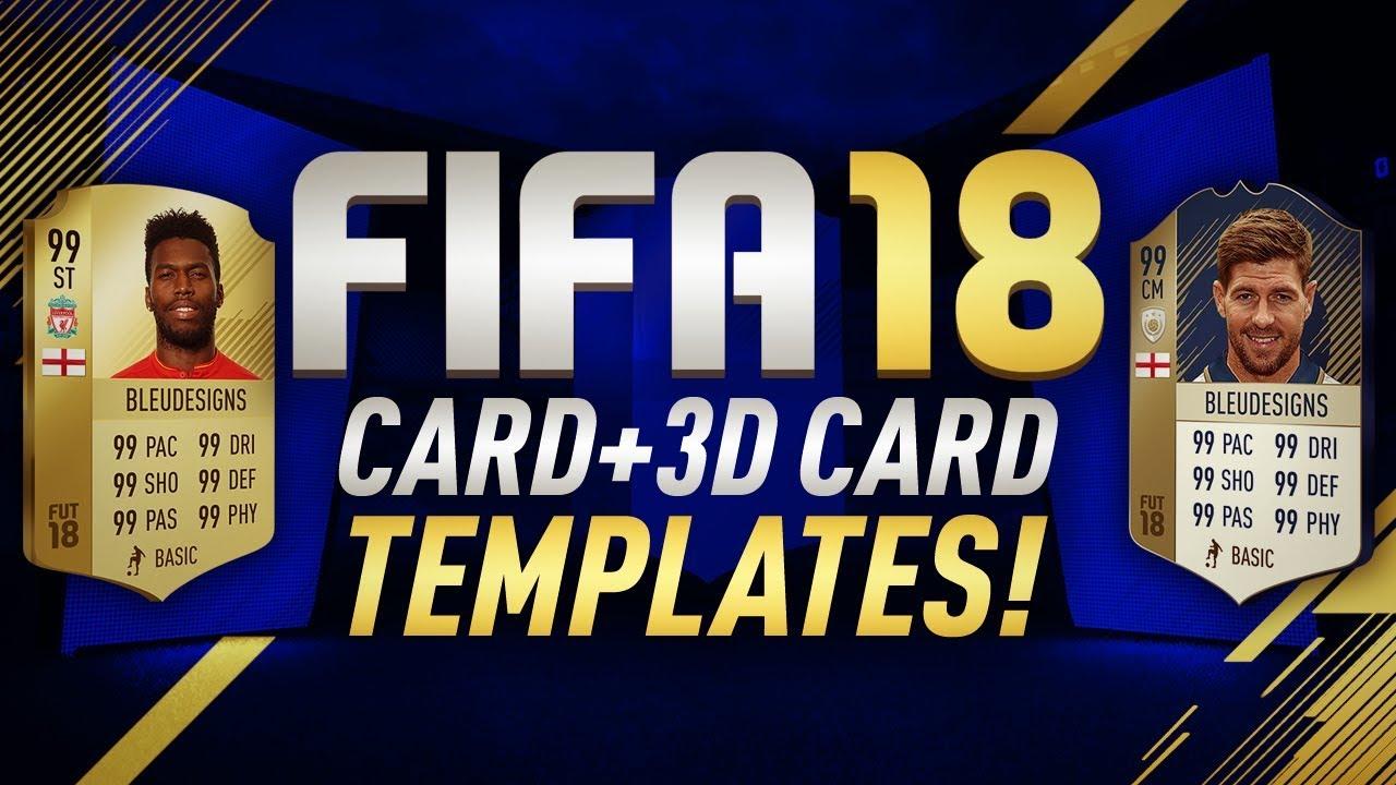 free fifa 18 card template  3d card template  fifa 18