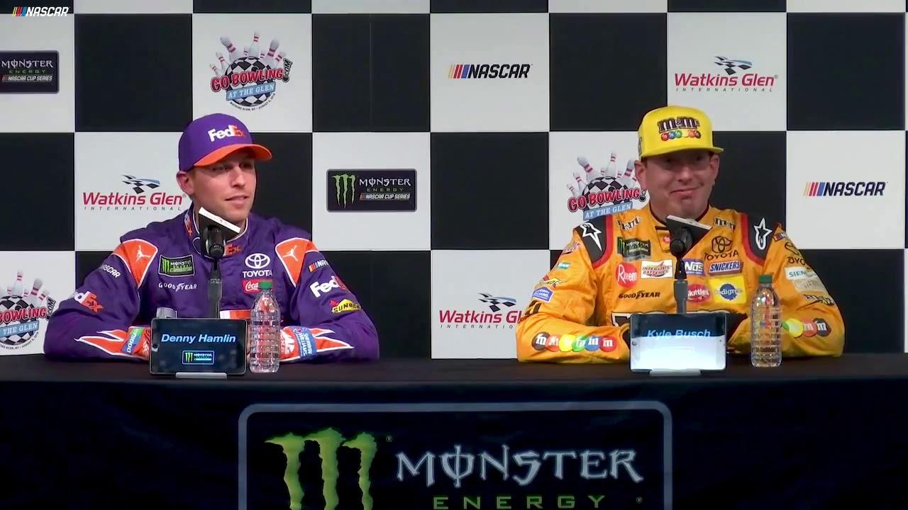 Denny Hamlin conquers Pocono for fifth time, leading a Joe Gibbs Racing sweep