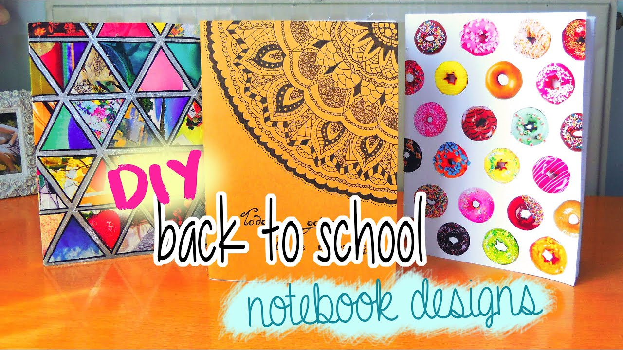 Diy notebooks for back to school doughnuts tumblr more for Back to school notebook decoration ideas