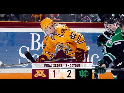 Highlights: Women's Hockey Ties North Dakota 0-0, Loses Shootout
