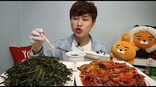 꽃돼지 부추무침이 너무먹고싶어서 오징어볶음 먹방 korean food