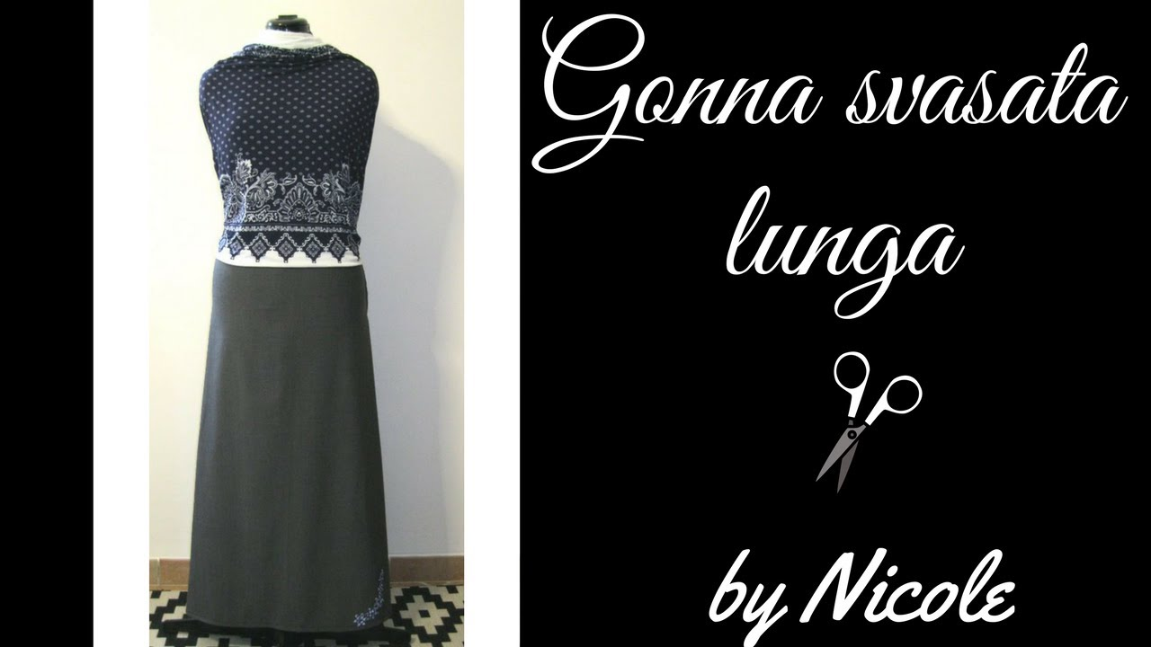 buy popular 6be8d d4b16 Come cucire una gonna svasata lunga - How to sew a long skirt