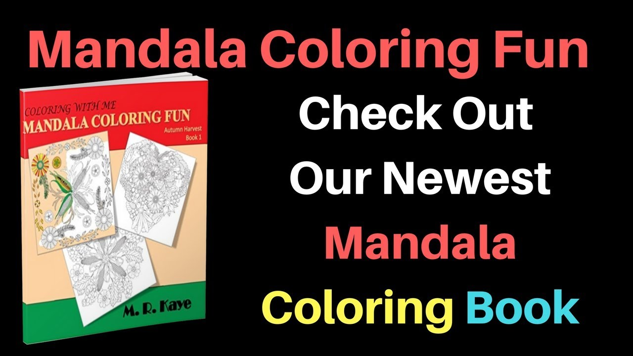 Coloring With Me Autumn Mandala Adult Coloring Book Youtube
