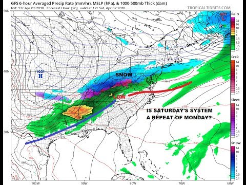 SEVERE WEATHER OHIO VALLEY, SNOW THREAT FRIDAY SATURDAY & NEXT TUESDAY STORMY APRIL CONTINUES