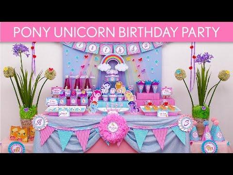 Pony Unicorn Birthday Party Ideas // Pony Unicorn - B55