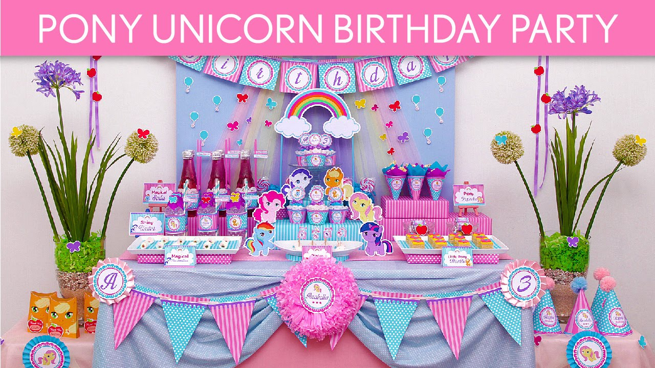 Pony Unicorn Birthday Party Ideas
