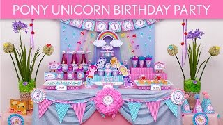 Pony Unicorn Birthday Party Ideas // Pony Unicorn - B55