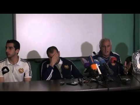 Press conference of Yura Movsisyan, Henrikh Mkhitaryan and Bernard Challandes