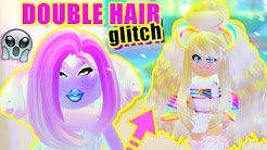 HOW TO WEAR TWO HAIRS AT ONCE! Double Hair GLITCH in Royale High
