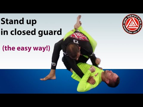 The easiest way to stand up in closed guard #closedguard #themirroringprinciple #bjj