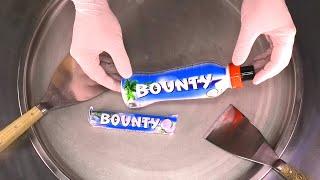 Bounty Chocolate Bar Ice Cream Rolls | how to make Chocolate and Coconut Ice Cream - satisfying ASMR