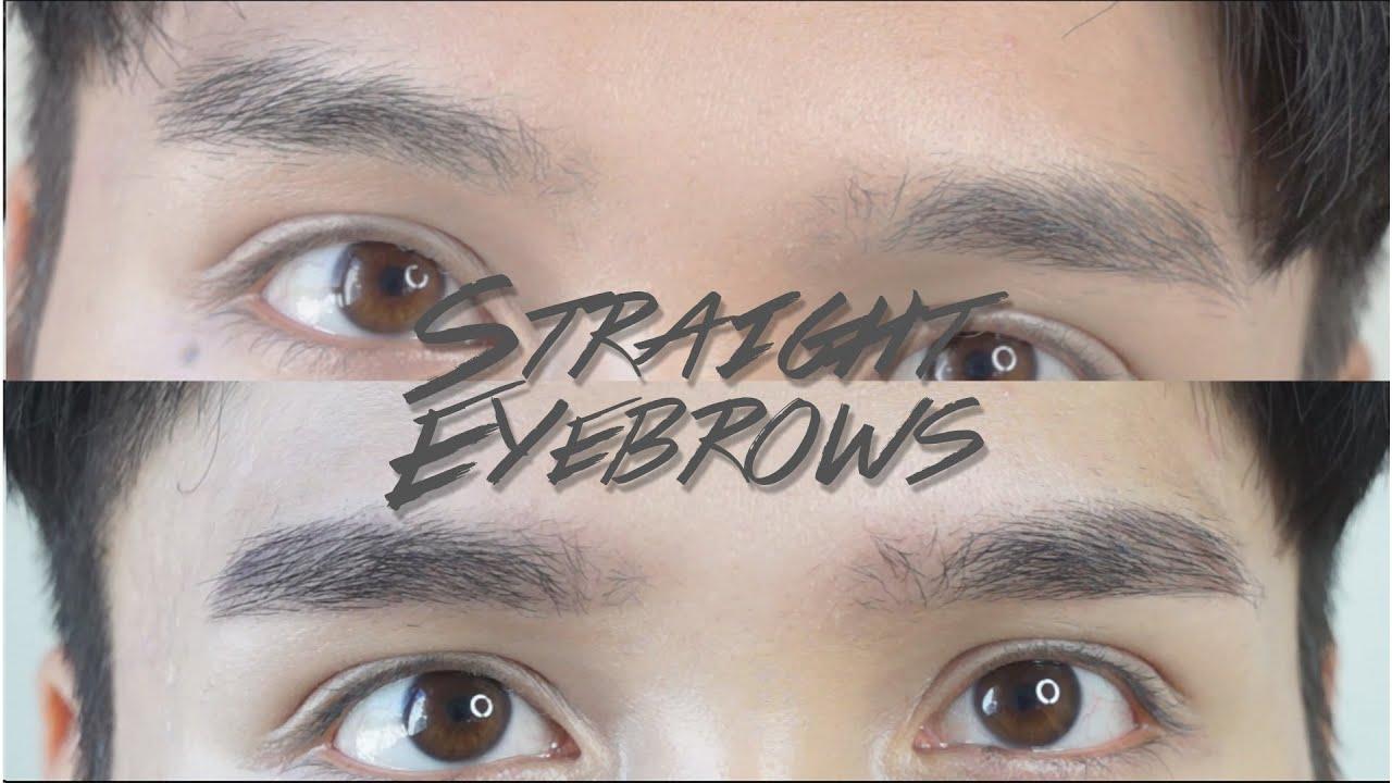 Straight Korean Style Eyebrow Tutorial Edward Avila Youtube