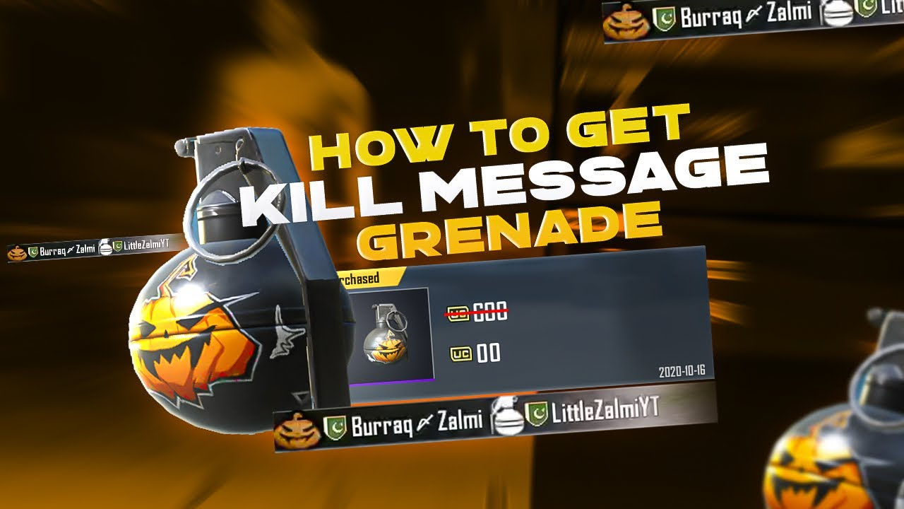 Get kill message For you grenade | Best Deal in Pubg | Zalmi gaming