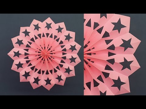 How to Make Paper Snowflakes for Christmas Decorations | 3D Snowflake | Christmas Crafts