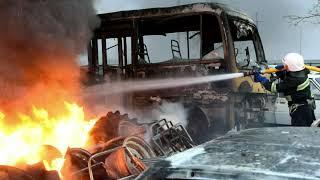 Миколаїв: вогнеборці ліквідували пожежу шин