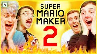 HJELP! VI SPILLER DIN BANE! - Mario Maker 2 med @Ruben og Sondre