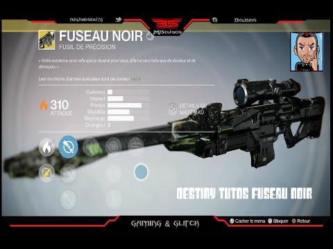 Destiny Tutos Dropper Fuseau Noir Arme Exotique