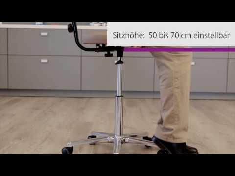 OPERATOR Arbeitsstuhl Lagerstuhl mit Lehne h/öhenverstellbarer Arbeitshocker Drehhocker mit verstellbarem Fu/ßring und Stahlgestell Werkstattstuhl hochwertiger ergonomischer B/ürodrehstuhl