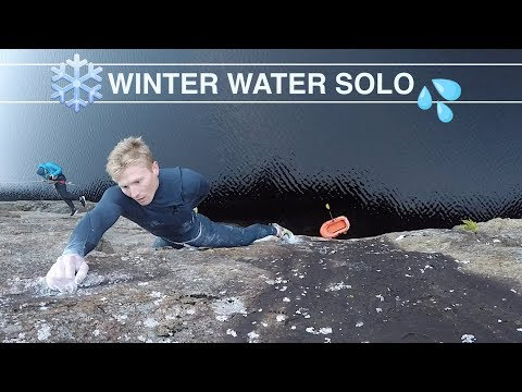CLIMBING ABOVE FREEZING WATER - DEEP WATER SOLOING