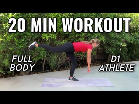 20 MIN AT HOME FULL BODY WORKOUT | VOLLEYBALL (No Equipment)