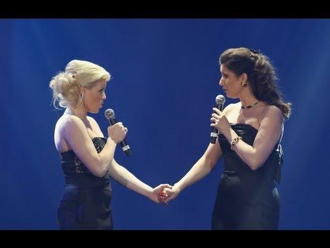 Megan Hilty & Stephanie J Block reunite at the 2013 Steve Chase ...