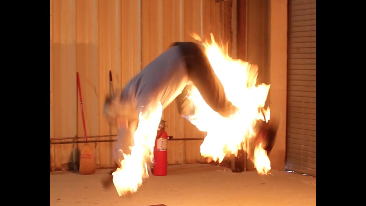 advanced stunt training fire burn youtube