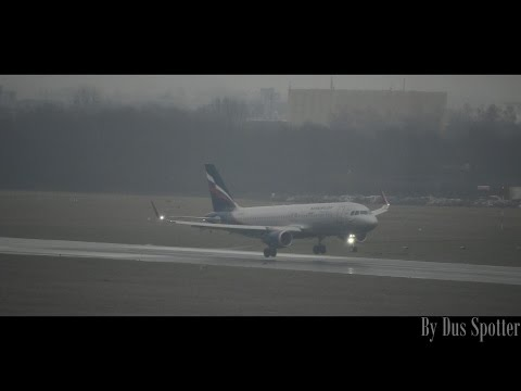 Aeroflot Airbus A320SL bad weather landing at Hannover Airport | Dus Spotter