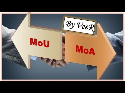 MoU vs MoA (Memorandum of Understanding vs Memorandum of Agreement) By VeeR