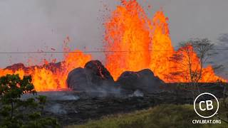 Kilauea Lava Flow Activity In Lower Puna Hawaii May 19, 2018