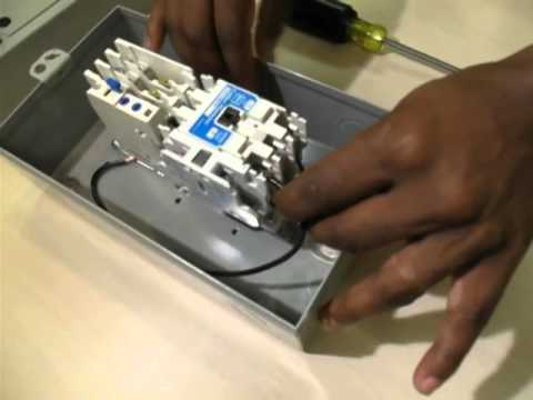 Start Stop Wiring Diagram Engine Components How To Convert A 3-phase Starter 1-phase - Youtube
