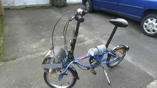 fabriquer un vélo électrique à galet avec un alternateur. to make an electric bike with a alternator