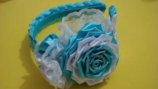 Flor de tecido – Montar – TIARA DECORADA PRINCESA