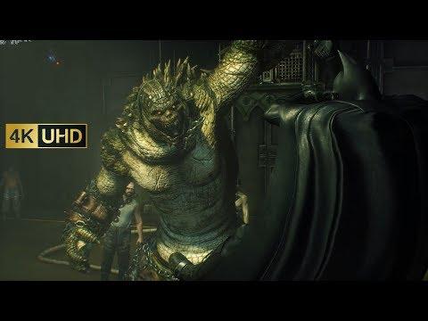 Batman Arkham Knight - Killer Croc Boss Fight (no HUD & 4K 60FPS)