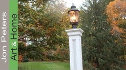 How to make a Lamp Post, / Build a Decorative Column Wrap