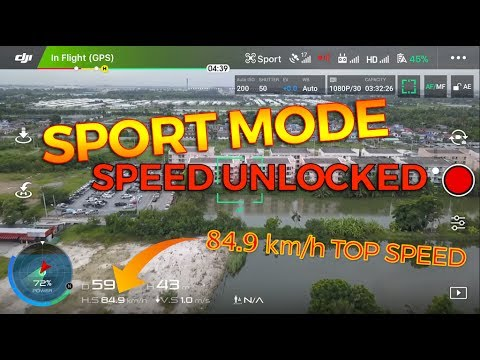 DJI MAVIC PRO | SPEED UNLOCKED @ 84 9 KM/h