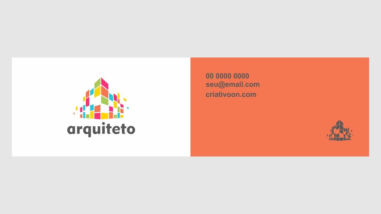 Super Cartão de visita arquiteto - grátis e vetor - YouTube RE36