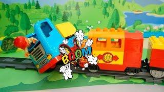 Видео для детей с игрушками про машинки и паровозики все серии подряд..