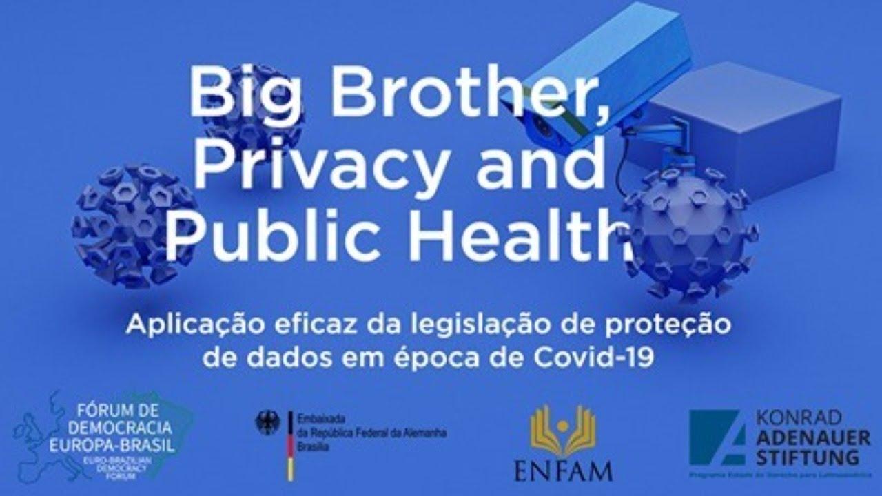 (CH Esp) – Não perca o Seminário Virtual: Big Brother, Privacy and Public Health: aplicação eficaz