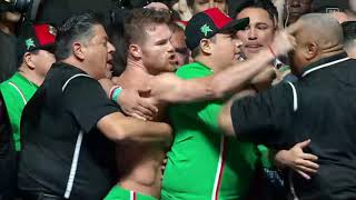 Canelo Alvarez and Danny Jacobs hit the scales (Video: Golden Boy Promotions)