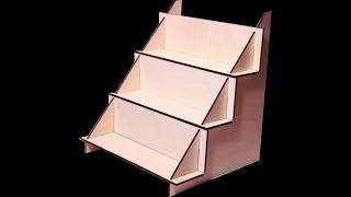 Display wood shelves For Crafts Booths