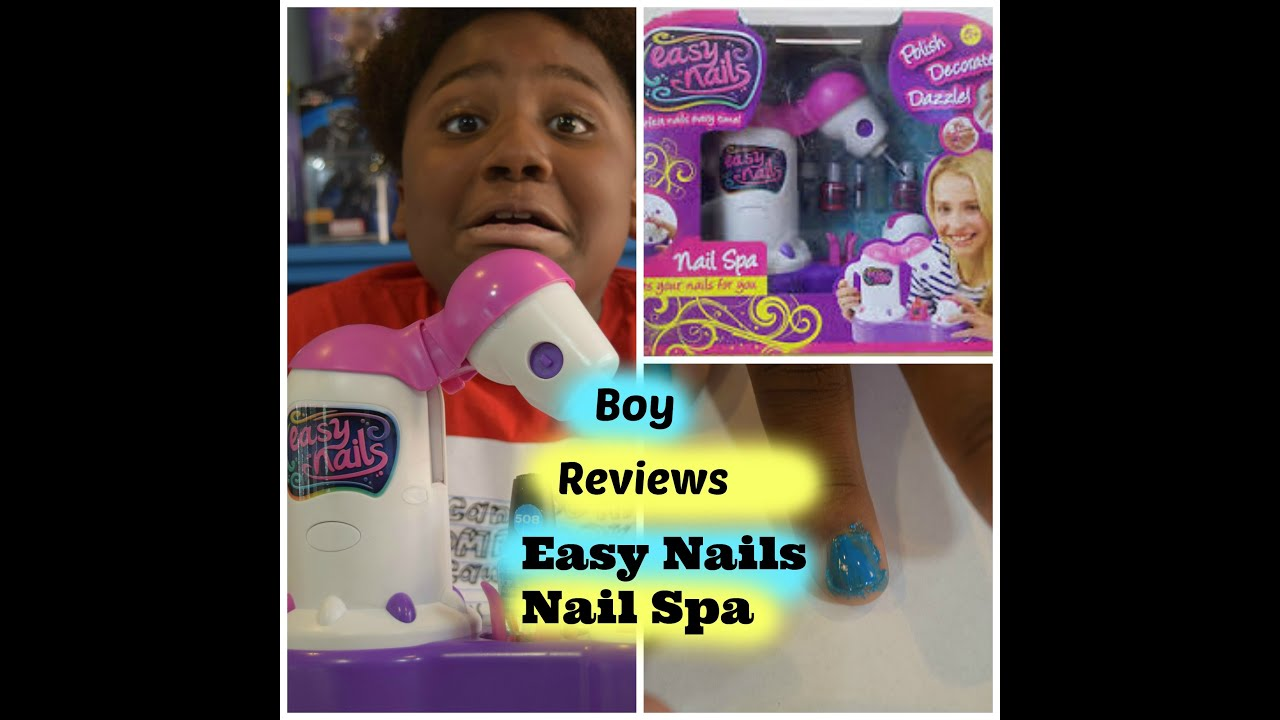 Easy Nails Nail Spa on a Boy! Kids Toy Review/ Tutorial/ ConnerBoy ...