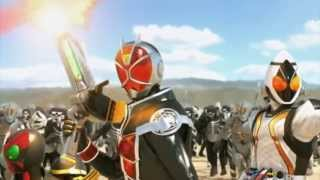 【MAD】「Guren no Yumiya 紅蓮の弓矢」- Linked Horizon (Shingeki no Kyojin OP) 【Kamen Rider Battride War】