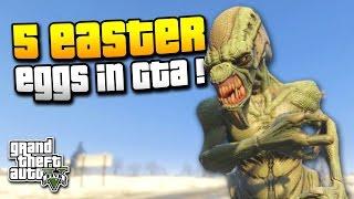 GTA 5 | 5 EASTER EGGS in GTA ! | CJ in GTA 5, ALIENS & MEHR ! | IDzock